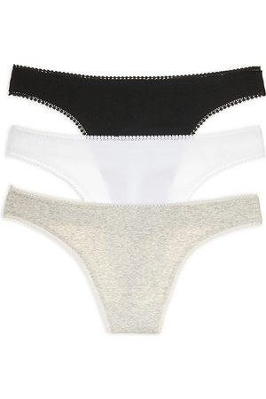 On Gossamer Cabana Cotton Hip-g Thongs, Set of 3