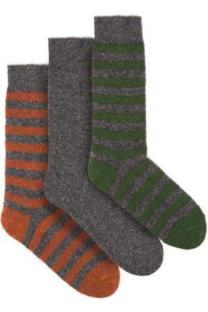 HOWLIN' Pack Of Three Merino-blend Socks - Mens - Multi