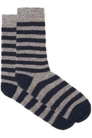 HOWLIN' Men Socks - Cosmonaut Striped Merino Wool-blend Socks - Mens - Multi