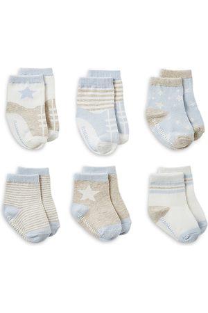Elegant Baby Unisex Printed Socks, 6 Pack - Baby