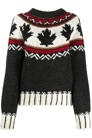 Dsquared2 Women Long sleeves - Intarsia-knit long-sleeve jumper