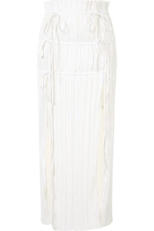 DION LEE Drawstring pleated skirt