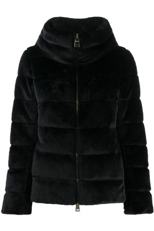 HERNO Faux-fur padded jacket