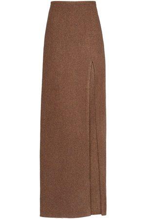 Miu Miu Side-slit wool skirt