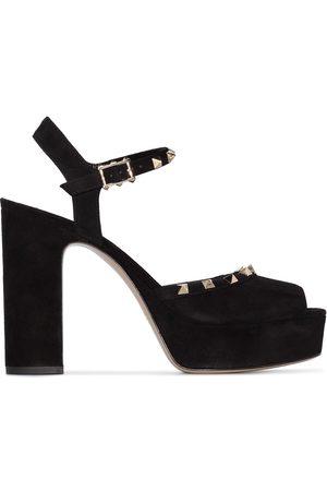 VALENTINO GARAVANI Rockstud 125mm platform sandals