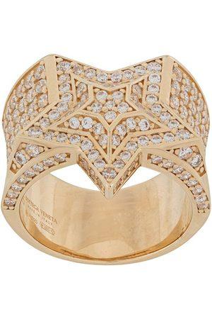 Bottega Veneta Crystal-embellished star ring
