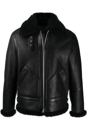 Acne Studios Men Leather Jackets - Shearling leather aviator jacket