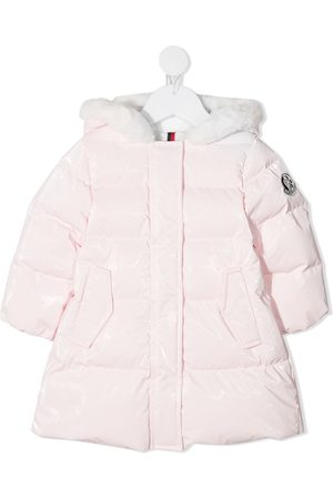 Moncler Faux-fur trimmed down coat