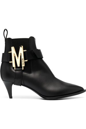 Moschino M plaque ankle boots