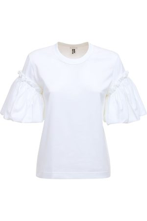 NOIR KEI NINOMIYA Ruffled Cotton Jersey T-shirt