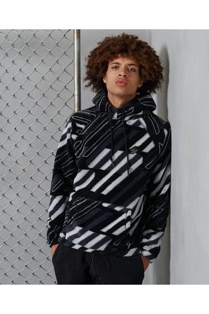 Superdry Sportstyle All Over Print Sherpa Hoodie