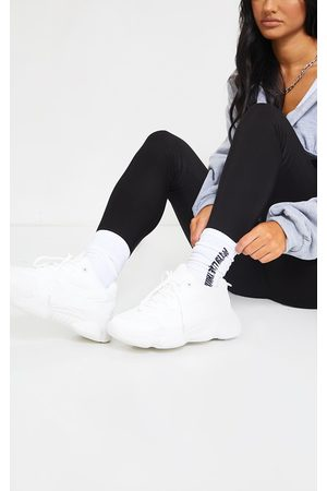 PRETTYLITTLETHING Wide Fit Chunky Bubble Sole Panelled Up Sneaker