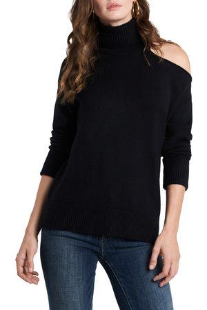 1. STATE Women's Cutout Shoulder Turtleneck Sweater