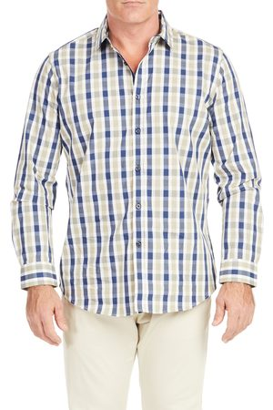 Johnny Bigg Men's Big & Tall Bale Check Button-Up Shirt
