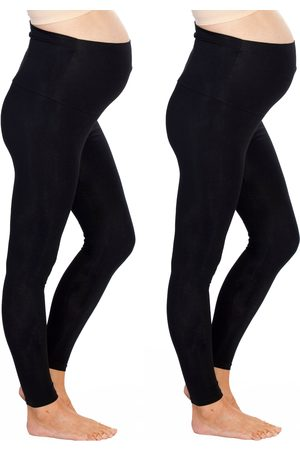 Angel Maternity Women's 2-Pack Maternity Leggings