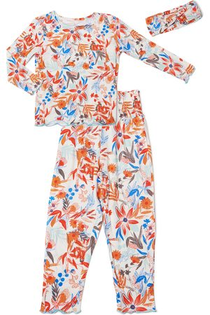 Baby Grey by Everly Grey Infant Girl's Charlie Fitted Two-Piece Pajamas & Head Wrap Set