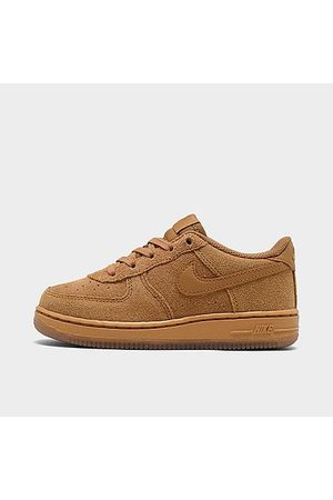 Nike Boys' Toddler Air Force 1 LV8 3 Casual Shoes in /Wheat Size 7.0 Leather/Suede