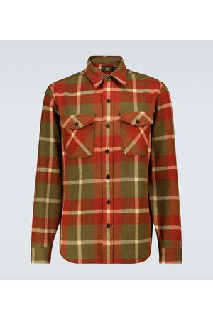 RRL Checked wool overshirt