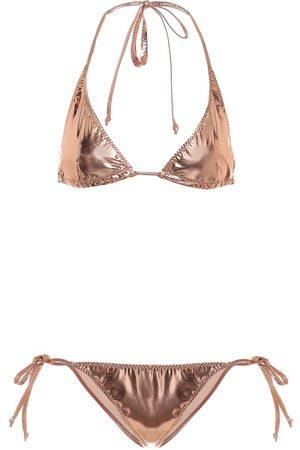 Lisa Marie Fernandez Pamela metallic PVC bikini