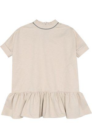 Brunello Cucinelli Embellished cotton jersey dress