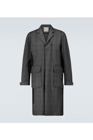 LARDINI Technical checked overcoat