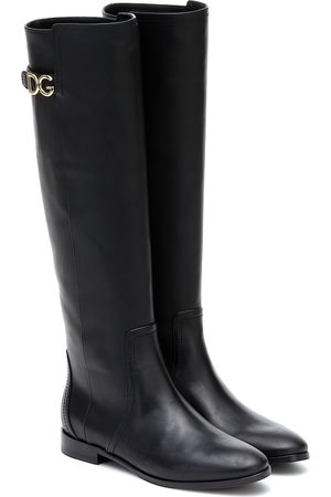 Dolce & Gabbana Leather riding boots