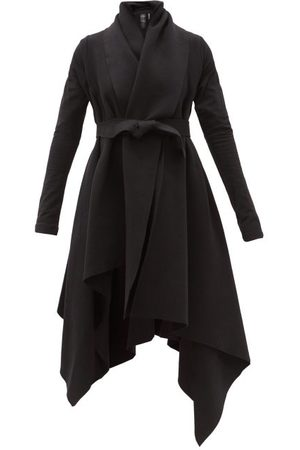 Norma Kamali Blanket Asymmetric Cotton-blend Jersey Coat - Womens