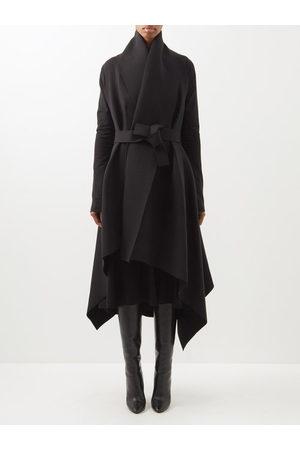 Norma Kamali Women Puffer Jackets - Blanket Asymmetric Cotton-blend Jersey Coat - Womens