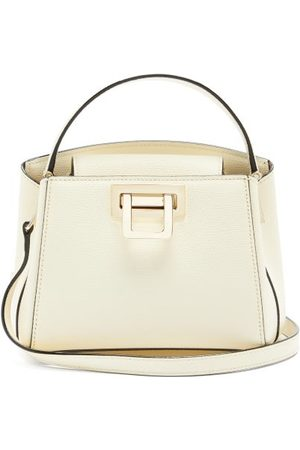 VALEXTRA Brera Grained-leather Shoulder Bag - Womens - Ivory