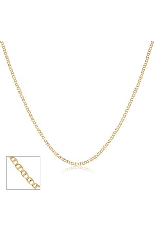 SuperJeweler Two Tone (1.90 g) 1mm Valentino Chain Necklace