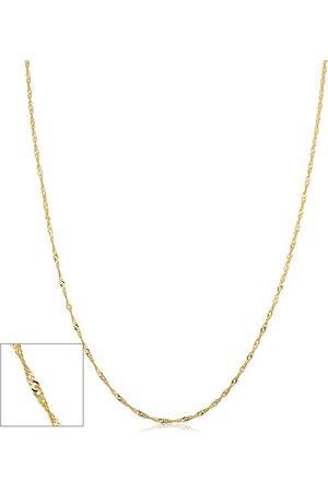 SuperJeweler (1 gram) 1mm Singapore Chain Necklace