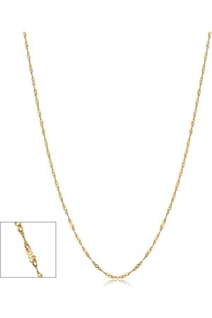 SuperJeweler (1 gram) 0.85mm Singapore Chain Necklace