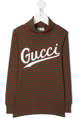 Gucci Logo-print striped top