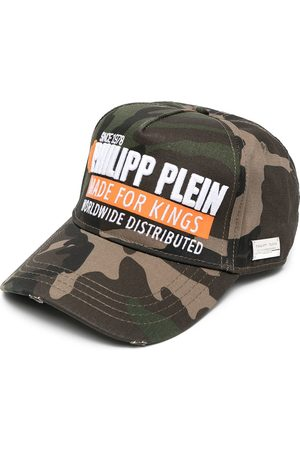 Philipp Plein Caps - Made for Kings camouflage cap