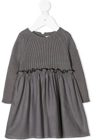 Violeta e Federico Baby Casual Dresses - Ribbed-top A-line dress - Grey