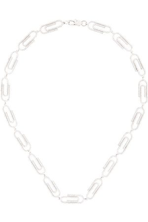 DARKAI Paper clip iced out necklace