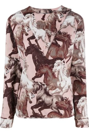 Kenzo Horse-print cotton blouse