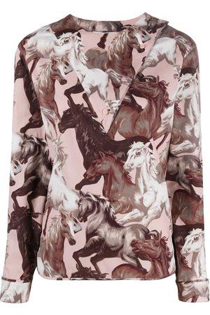 Kenzo Women Blouses - Horse-print cotton blouse