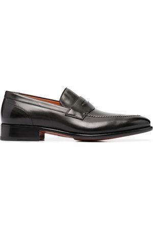 santoni Slip-on leather loafers