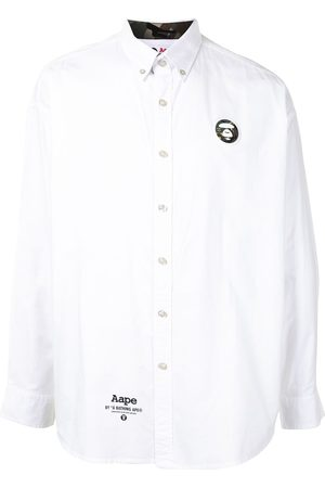 AAPE BY *A BATHING APE® Ape silhouette button-down shirt