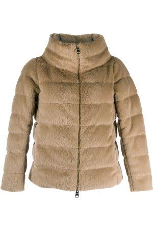 HERNO Textured puffer jacket - Neutrals