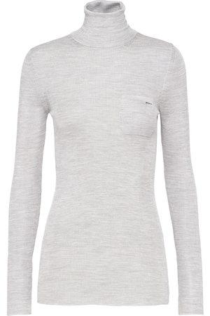 Prada Silk roll-neck jumper - Grey