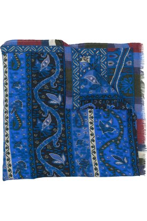 Etro Printed raw edge scarf