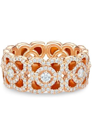 De Beers Jewellers 18kt rose Enchanted Lotus carnelian and diamond ring