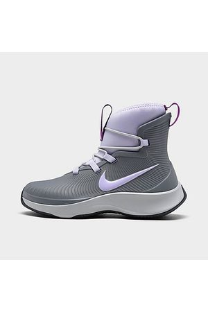 Nike Girls Casual Shoes - Girls' Little Kids' Binzie Casual Boots in Grey