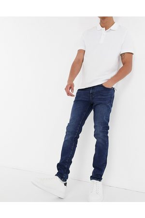 Selected Skinny jeans organic cotton in mid -Navy