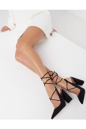 ASOS Pascal tie-leg block heels in