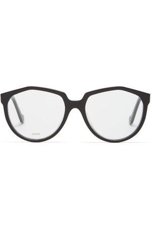 Loewe Women Round - Oversized Round Acetate Glasses - Womens