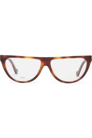 Loewe D-frame Acetate Glasses - Womens - Tortoiseshell