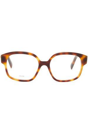 Céline Square-frame Acetate Glasses - Womens - Tortoiseshell